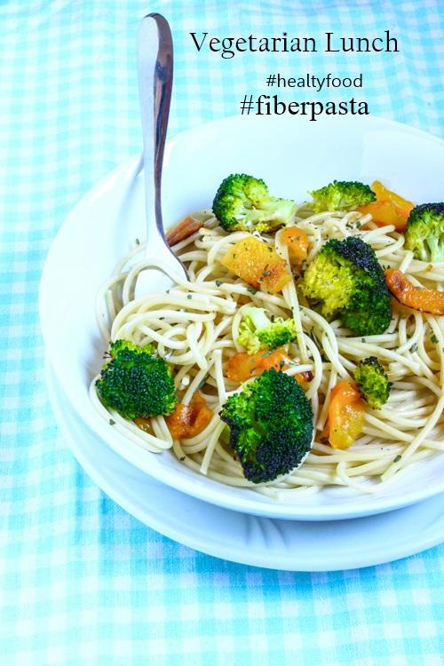 Spaghetti con broccoli e peperoni