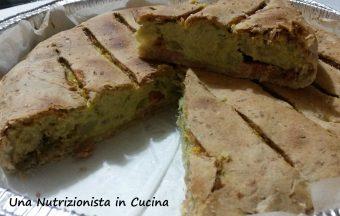 Torta salata cavolfiori stracchino e speck